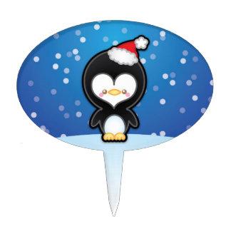 Cute Kawaii Christmas Penguin Cake Decoration Cake Toppers
