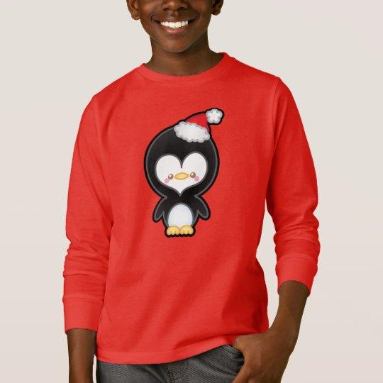 Cute Kawaii Christmas Penguin Kids Jumper T-Shirt