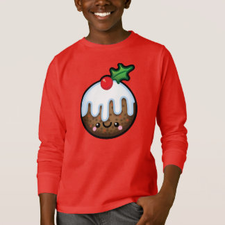 Cute Kawaii Christmas Pudding Kids Sweater