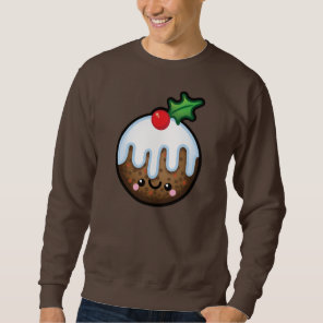Cute Kawaii Christmas Pudding Mens Jumper Sweatshirt