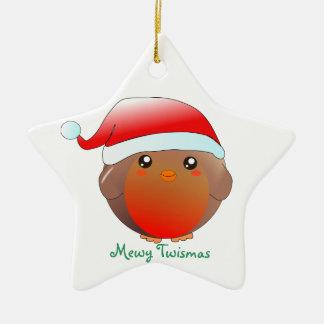 Cute kawaii Christmas Robin Ornament Decoration