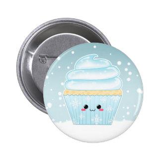 Cute Kawaii Christmas Snowflake cupcake 6 Cm Round Badge