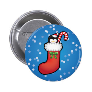 Cute Kawaii Christmas Stocking Pin Badge