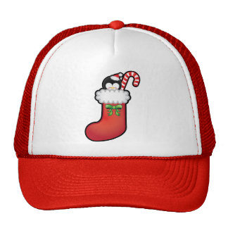 Cute Kawaii Christmas Stocking Trucker Hat