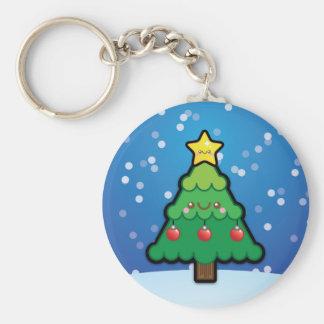 Cute Kawaii Christmas Tree Keyring / Keychain
