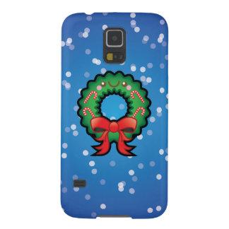 Cute Kawaii Christmas Wreath Samsung S5 Case
