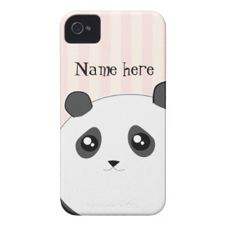 Cute Kawaii chubby panda bear iPhone 4 Case-Mate Case