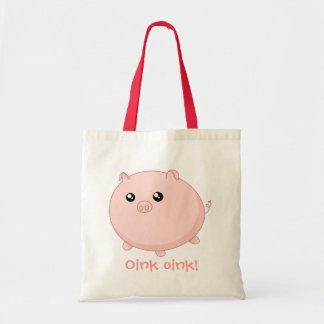 Cute Kawaii chubby pink pig Bags