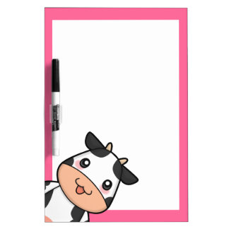 Cute Kawaii Cow Cartoon Dry Erase Board