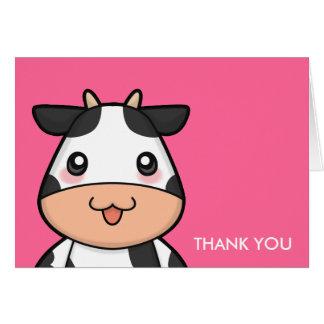 Cute Kawaii Cow Cartoon Greeting Cards