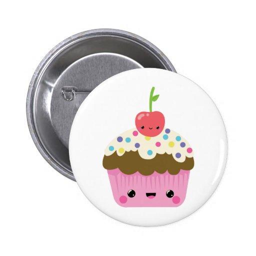 Cute Kawaii Cupcake 6 Cm Round Badge
