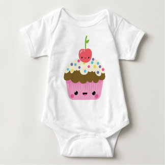 Cute Kawaii Cupcake Baby Bodysuit