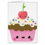Cute Kawaii Cupcake Greeting Card