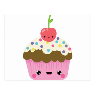 Cute Kawaii Cupcake Postcard