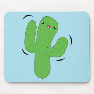 Cute kawaii dancing cactus mousepad