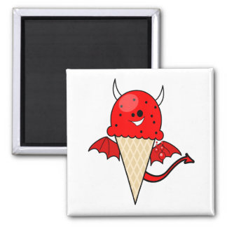 cute kawaii devil ice cream cone with wings magnets