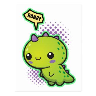 Cute Kawaii Dinosaur Postcard