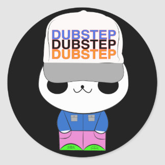Cute kawaii dubstep panda classic round sticker