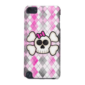 Cute Kawaii Emo Skull and Crossbones on Argyle iPod Touch (5th Generation) Cover