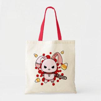 Cute Kawaii evil bunny with chainsaw Budget Tote Bag