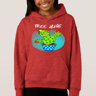 Cute Kawaii Free Hugs Smiling Cactus Plant Graphic