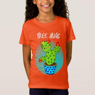 Cute Kawaii Free Hugs Smiling Cactus Plant Graphic T-Shirt