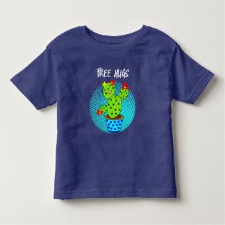 Cute Kawaii Free Hugs Smiling Cactus Plant Graphic Toddler T-Shirt