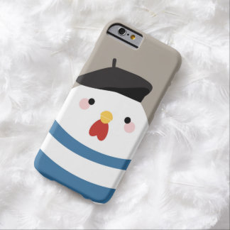 Cute Kawaii French Hen Illustration Barely There iPhone 6 Case