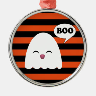 CUTE KAWAII GHOST Silver-Colored ROUND DECORATION