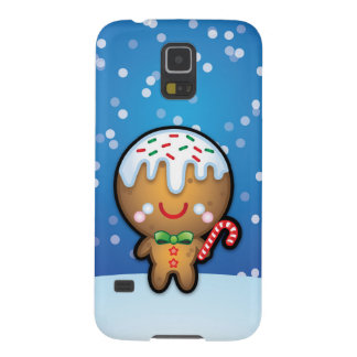 Cute Kawaii Gingerbread Man Christmas S5 Case