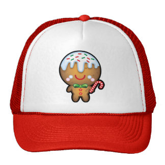 Cute Kawaii Gingerbread Man Christmas Trucker Hat