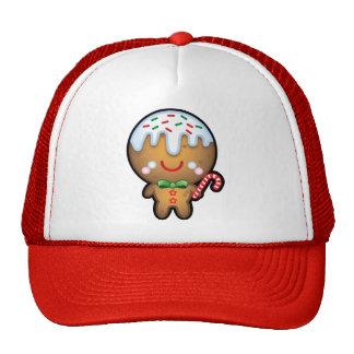 Cute Kawaii Gingerbread Man Christmas Trucker Hat