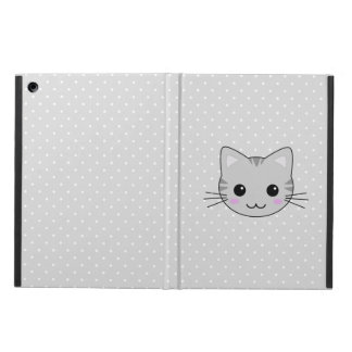 Cute Kawaii Gray Tabby Cat Cartoon iPad Air Case