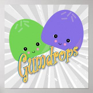 Cute Kawaii Gumdrops Poster