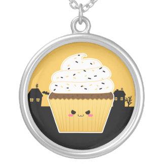 Cute Kawaii Halloween cupcake Custom Necklace