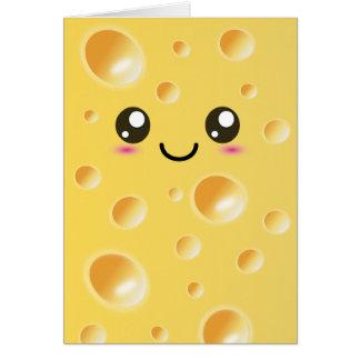 Cute Kawaii Happy Cheese Card