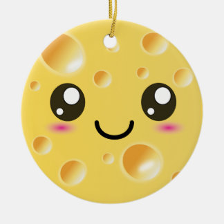 Cute Kawaii Happy Cheese Christmas Ornament