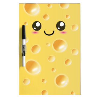 Cute Kawaii Happy Cheese Dry Erase Boards