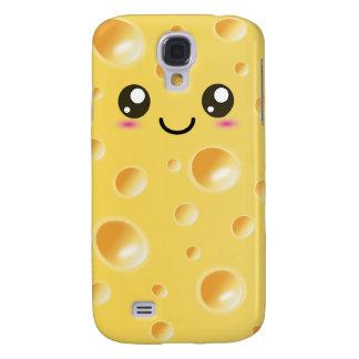Cute Kawaii Happy Cheese Galaxy S4 Case