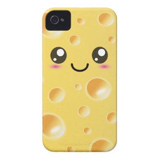 Cute Kawaii Happy Cheese iPhone 4 Case-Mate Case