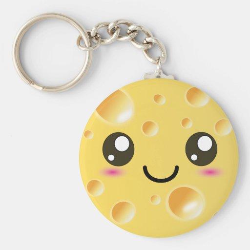 Cute Kawaii Happy Cheese Key Chains