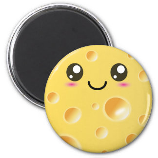 Cute Kawaii Happy Cheese Magnet
