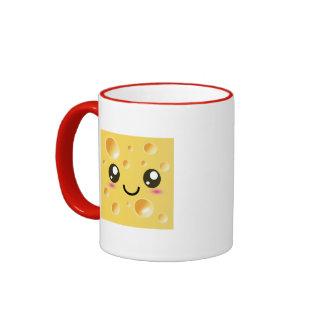 Cute Kawaii Happy Cheese Ringer Coffee Mug