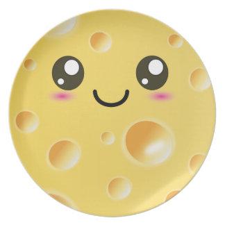 Cute Kawaii Happy Cheese plate