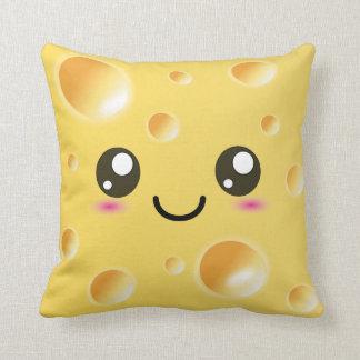 Cute Kawaii Happy Cheese Throw Cushion