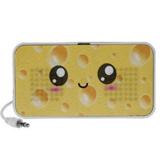 Cute Kawaii Happy Cheese Travelling Speakers