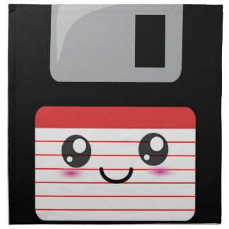 Cute / Kawaii Happy Floppy Disk Napkin