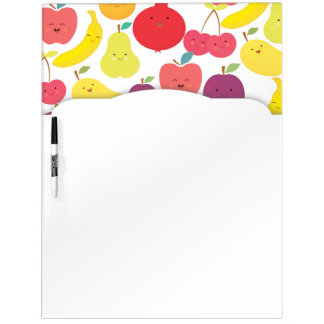 Cute Kawaii Happy Fruits Food Custom Dry Erase Board
