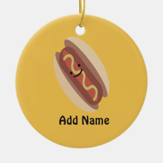 Cute Kawaii Hot Dog Christmas Ornament