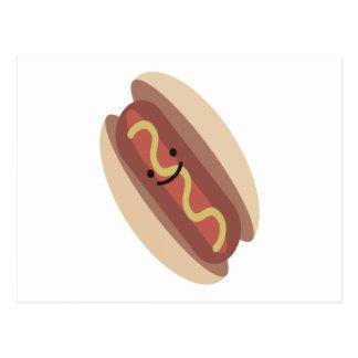 Cute Kawaii Hot Dog Postcard